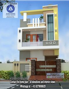 Top 12 Indian Front Elevation Home Design Everyone Will Like House Outer Design, Single Floor House Design, Bungalow House Design, House Front Design, Small House Design, Modern Exterior House Designs, Latest House Designs, Modern House Design, House Elevation