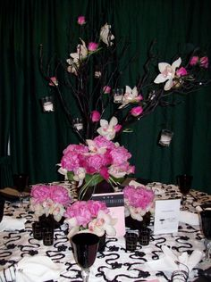 pink peonies and white orchids