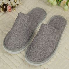 Unisex Pure Color SPA slipper Closed-toe General Non-disposable Hotel slippers Home indoor slipper for guest