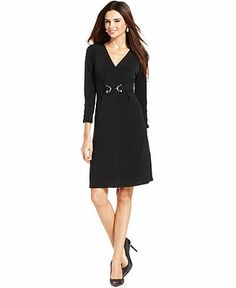 Alfani black dress for career women. Nice corporate business casual attire for ladies