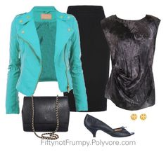 Leather Jacket by fiftynotfrumpy on Polyvore featuring polyvore, fashion, style, Lafayette 148 New York, French Connection, Repetto, Tory Burch, women's clothing, women's fashion, women, female, woman, misses and juniors