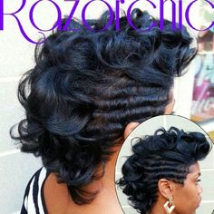 Tousled curly mohawk by @razorchicofatlanta - Black Hair Information