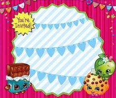 Shopkins Bday, Shopkins Girls, New Shopkins, Shopkins Printable, Shopkins Invitations, 8th Birthday, Party Ideas, Printables, Birthday Party Invitations