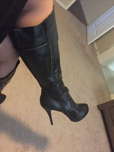 Knee High Heels, High Heel Boots, Knee Boots, Heeled Boots, Black High Boots, High Leather Boots, Sexy Boots, Tall Boots, Cute Heels