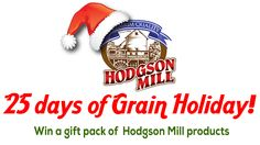 You should enter 25 Days of Grain Holiday. There are great prizes and I think one of us could win!