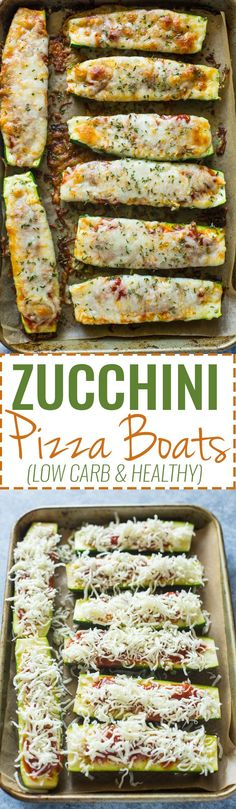 Healthy Low-Carb Zucchini Pizza Boats (VIDEO)