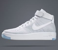 Nike has updated its classic Air Force 1 high-top shoes, using its innovative Flyknit material to reduce the weight of the shoe by half