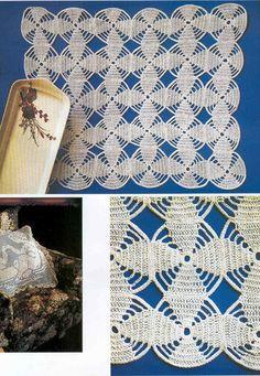 Crochet everything. Filet Crochet, Crochet Doilies, Crochet Lace, Pineapple Crochet, Crochet Kitchen, Square Patterns, Crochet Slippers, Crochet Patterns, Diy