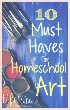 Art is a big deal in our homeschool.  Between art appreciation, art classes, and art for fun, my kids are used to having great art supplies available for their projects.  Today we're looking at their must-have supplies for homeschool art. (Post contains affiliate links; see disclosure for details.) We've experimented with[Read more]