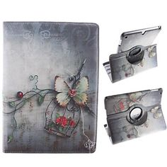 Design of Small Adorn Article 360 Degree Rotating PU Leather Case with Stand for iPad Air – USD $ 16.14