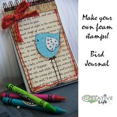 crafts notebook | crafts up a handmade foam stamp to personalize a mini notebook ...
