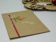 Peace and Joy #Christmas card