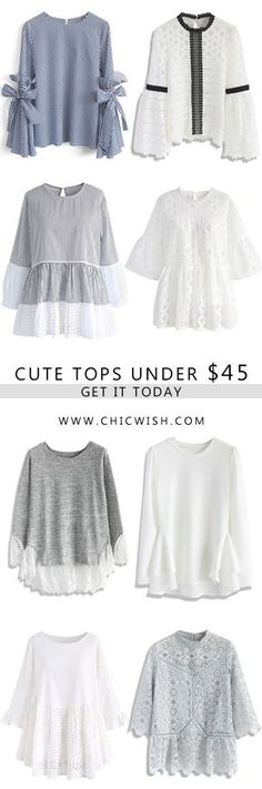 ChicWish traces its beginnings back to the original idea: to cater the young generation with a distinct sense of style. We establish our shop to offer the hottest and fashion style of dresses for those who with an eye for chic and fun fashion. Vintage Tops, Fall Outfits, Cute Outfits, Fall Tops, Stunning Women, Mode Hijab, Summer Fall, Dame, Grunge
