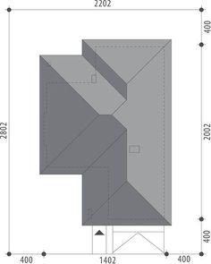 DOM.PL™ - Projekt domu FA Maja CE - DOM GC5-65 - gotowy koszt budowy Solar Roof, House Plans, How To Plan, House Styles, Floor, Houses, Home, Pavement, Boden