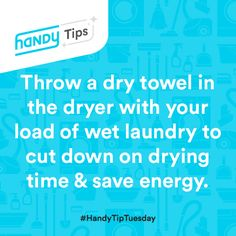 Great tip to save your time (& quarters if at the laundromat!) the next time you do laundry! #HandyTipTuesday 8/11/15