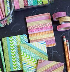 DIY Notebooks w/tape