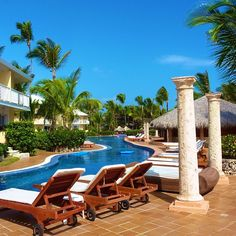 Pool side at Excellence Punta Cana. #DominicanRepublic