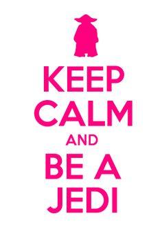 KEEP CALM AND BE A JEDI -GIRLS SHIRT