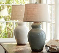 Evelyn Ceramic Table Lamp Base #potterybarn