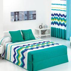 Edredón Lucca Reig Martí - Bazartextil.com Bed Cover Design, Cushion Cover Designs, Bed Design, Linen Bedroom, Bedroom Decor, Quilted Curtains, Bed And Beyond, Designer Bed Sheets, Stylish Beds