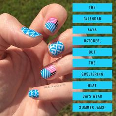Love the September 2016 Classic StyleBox neon nail wraps!