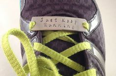 Hand-Stamped Shoelace Plate for Running or Fitness Motivation 46% off at Groopdealz