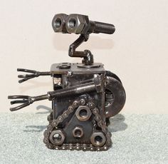 Hand Made WALLE 55 Inches Recycled Scrap Metal by ScrapSculptures, $45.00