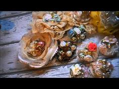 ▶ Flowers and super gorgeous shabby centers!!! - YouTube
