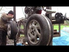 Interesting Things I Learned Building My Car-Wheel Bandsaw Mill. Weld Wheels, Truck Wheels, Custom Wheels, Custom Cars, Homemade Bandsaw Mill, Matte Black Cars, Ford Mustang Car, Ford Mustangs, Chevy Camaro
