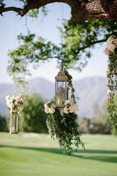 Victorian Floral Lanterns Hanging Wedding Decor / http://www.deerpearlflowers.com/hanging-wedding-decor-ideas/