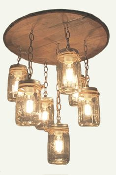 Whisky barrel chandelier