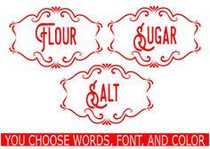 Etiqueta de cocina conjunto bote etiqueta por TheLazyIdesigns