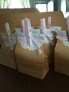 Cute and simple party favor bags.