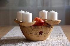adventní svícen-s tavným modrým sklem-na obj!!! / Zboží prodejce lavender | Fler.cz Advent Wreaths, Drawing For Kids, Xmas, Christmas, Ceramic Pottery, Candle Holders, Candles, Ceramics, Fiber