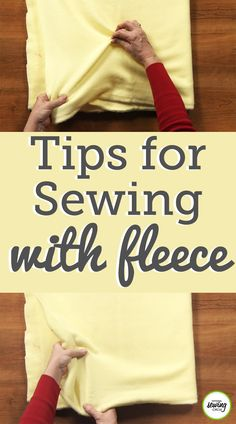 There are many advantages to sewing fleece because its an easy fabric to work with. ZJ Humbach shares some reasons why sewing fleece is one of her favorites. Sewing Hacks, Sewing Tutorials, Sewing Tips, Sewing Ideas, Sewing Basics, Sewing Lessons, Sewing Crafts, Serger Sewing, Fabric Sewing