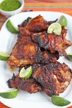 Cherry Wood Smoked Peruvian Chicken © Jeanette's Healthy Living