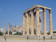 Atenas - Fotografía: Paulo Portugal Mykonos, Santorini, Corinthian Order, Architrave, Olympians, Ancient Greece, Syria, Travel Photos, Louvre