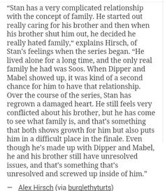 Alex Hirsch on Stan's perspective on family