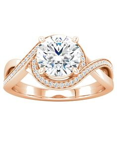 Bypass style halo engagement ring | Ever & Ever 'Bria' | http://trib.al/1ZeMeXl