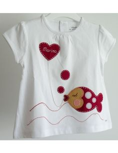 Embroidery Designs For Girls Children 42 Ideas For 2019 Sewing For Kids, Baby Sewing, Applique Designs, Embroidery Designs, T Shirt Painting, Patch Quilt, Embroidery Applique, Refashion, Kids Wear