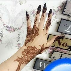 Mehandi and Nails Khafif Mehndi Design, Floral Henna Designs, Finger Henna Designs, Mehndi Designs Book, Mehndi Designs 2018, Modern Mehndi Designs, Mehndi Design Pictures, Mehndi Designs For Girls, Wedding Mehndi Designs