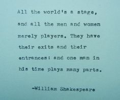 WILLIAM SHAKESPEARE quote Typed on Typewriter by PoetryBoutique, $9.00
