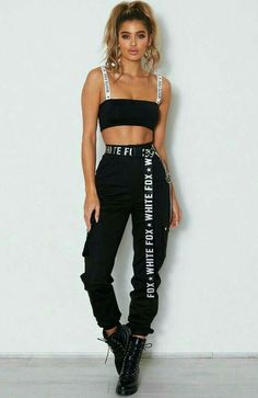 Rollin With My Homies Cargohose Schwarz # # Out… - Outfits 2020 Fashion Trends Cute Casual Outfits, Hipster Outfits, Sporty Outfits, Mode Outfits, Grunge Outfits, Stylish Outfits, Casual Jeans, Hip Hop Outfits, Fall Outfits