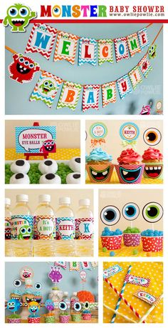 INSTANT DOWNLOAD Baby Shower Monster Bash Printable by OwliePowlie, $29.00