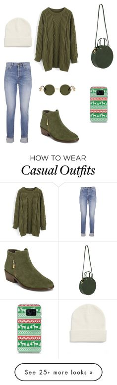 """Casual shopping day outfit"" by emmylou22 on Polyvore featuring Yves Saint Laurent, Chicwish, Aerosoles, Clare V., Forever 21 and Samsung"