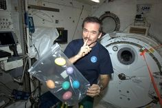 "'Don't tell my crew, but I brought them Easter Eggs :).""  International Space Station Commander, Chris Hadfield."