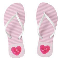 #ad Pink Stripes, Monogram, Slip On, Sandals, Shopping, Shoes, Style, Fashion, Moda