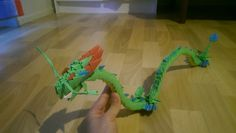 3D origami dragon (Shenron)