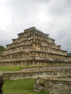 The Pyramid of the Niches, Veracruz-Llave, Mexico is a pre-Columbian archeological site [ MexicanConnexionForTile.com ] #Travel #Talavera #Handmade