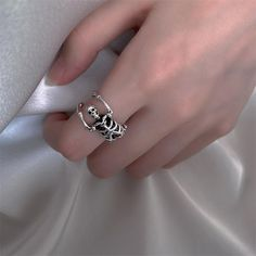Open Ring, Charm Jewelry, Skull, Silver Rings, Punk, Gifts, Accessories, Dog, Clothes